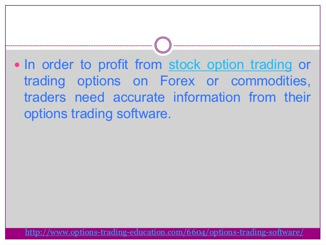 Virtual option trading software