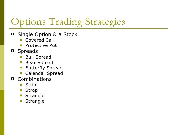 Strategies for options trading
