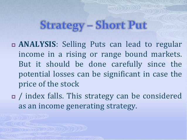 Short position in put option graph questions