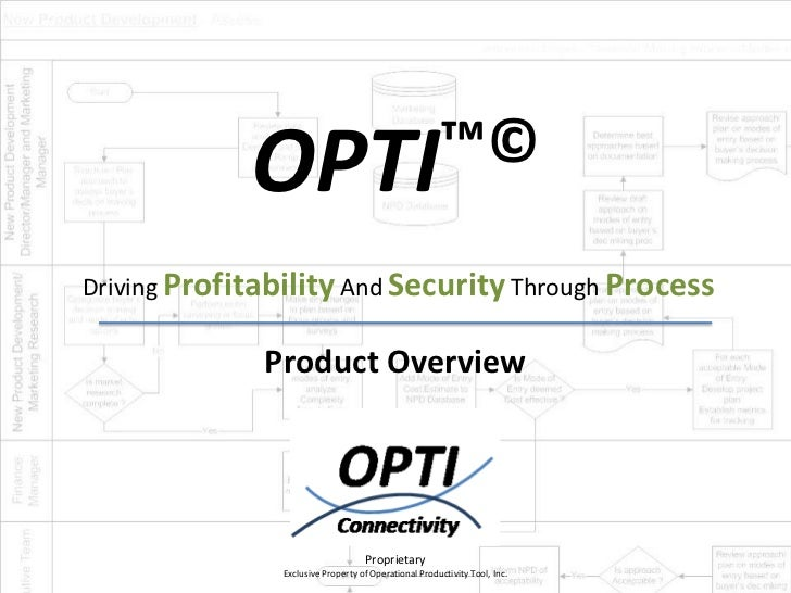 OPTI™©Driving Profitability And Security Through Process              Product Overview                                   P...