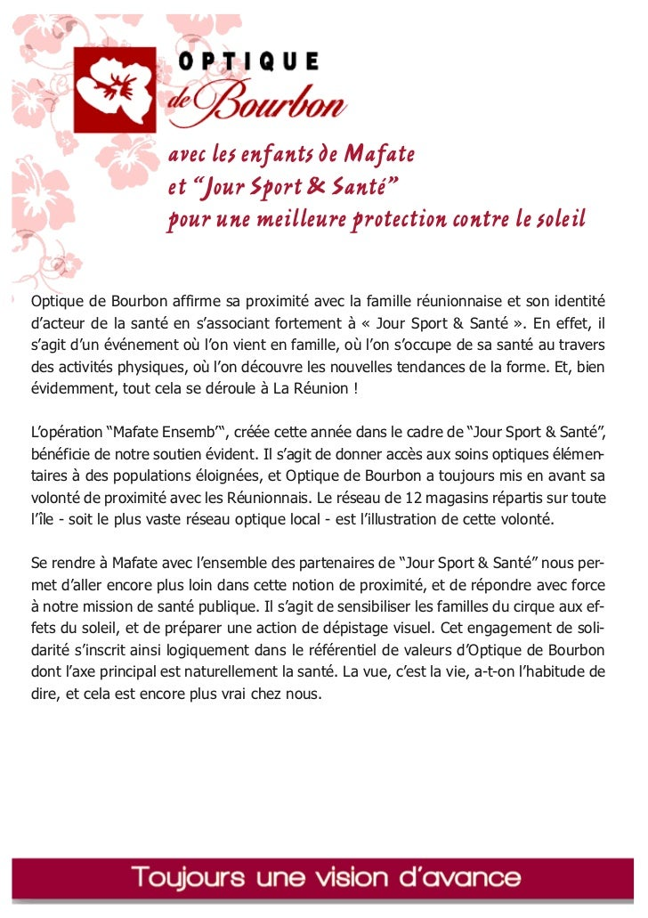 """avec les enfants de Mafate                     et """"Jour Sport & Santé""""                     pour une meilleure protection c..."""