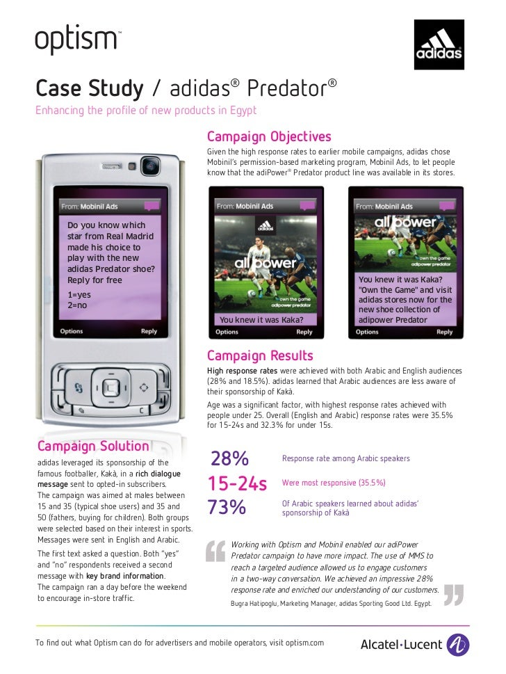 Case Study / adidas® Predator®Enhancing the profile of new products in Egypt                                              ...