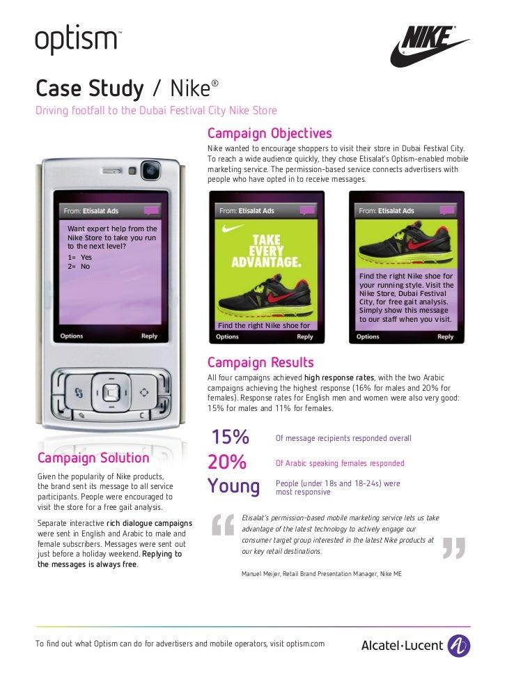 Case Study / Nike                                  ®Driving footfall to the Dubai Festival City Nike Store                ...