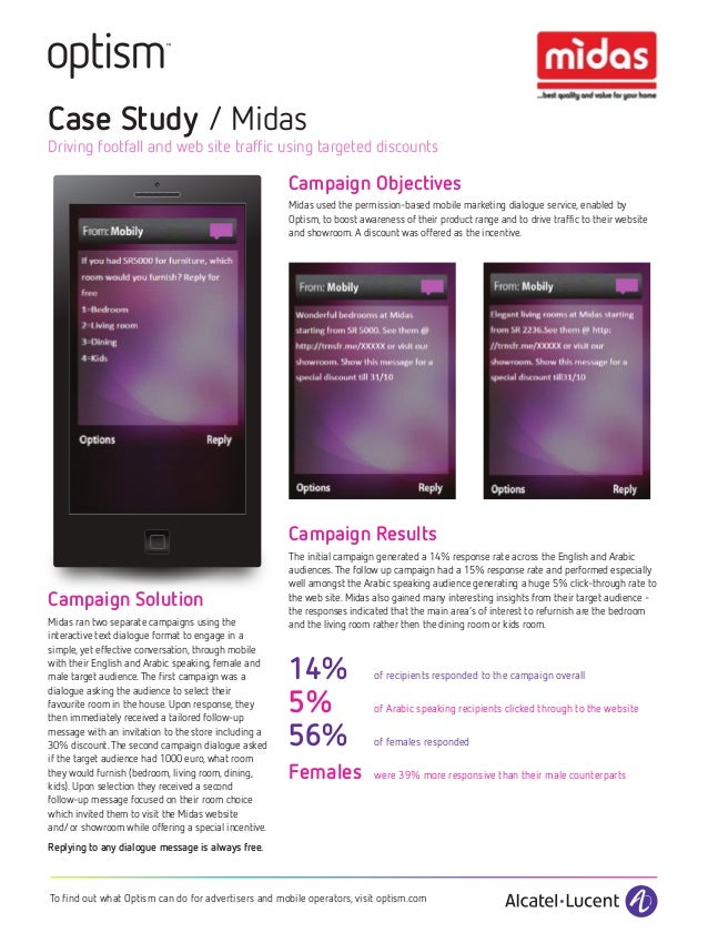 Case Study / MidasDriving footfall and web site traffic using targeted discounts                                          ...