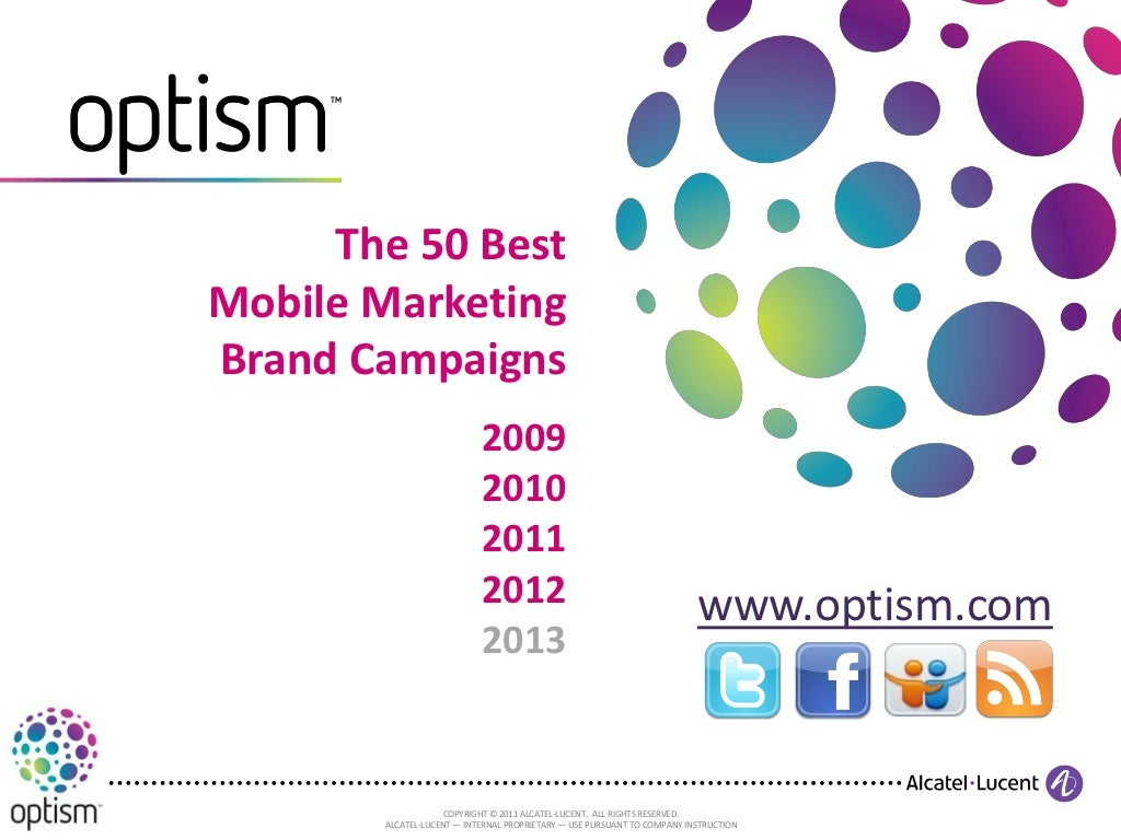 Optism's 50 Best Mobile Marketing Campaigns