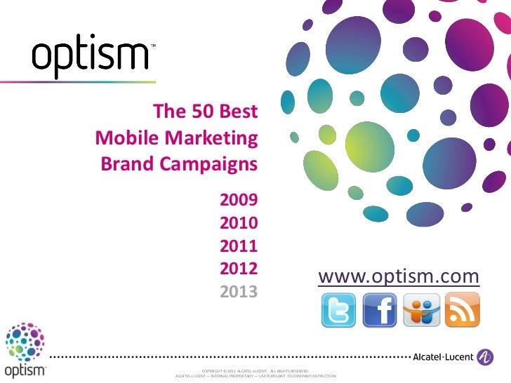 The 50 BestMobile MarketingBrand Campaigns                           2009                           2010                  ...