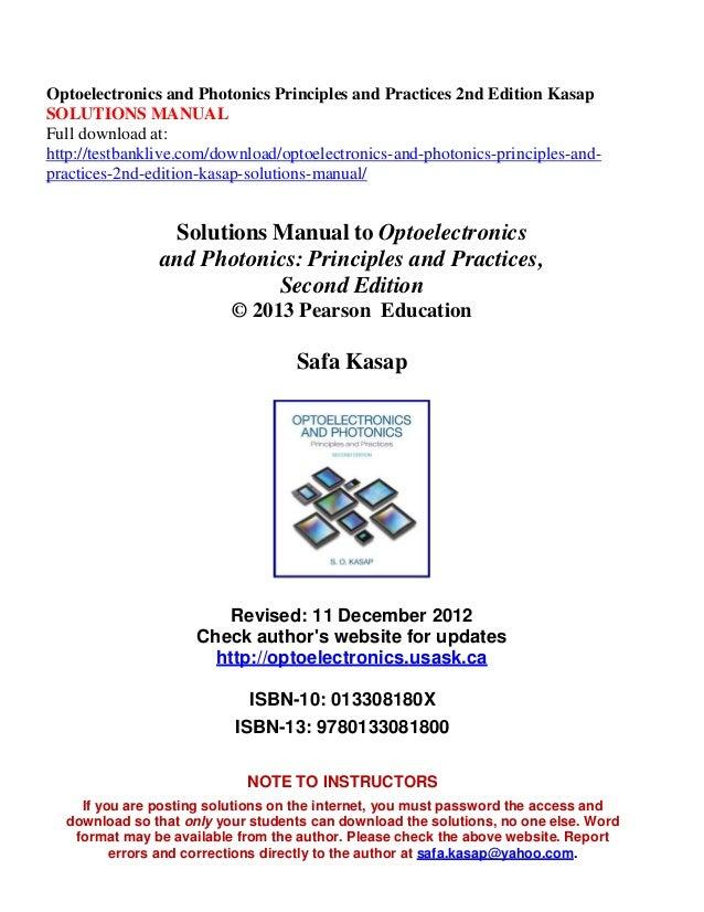optoelectronics and photonics principles and practices 2nd edition ka rh slideshare net