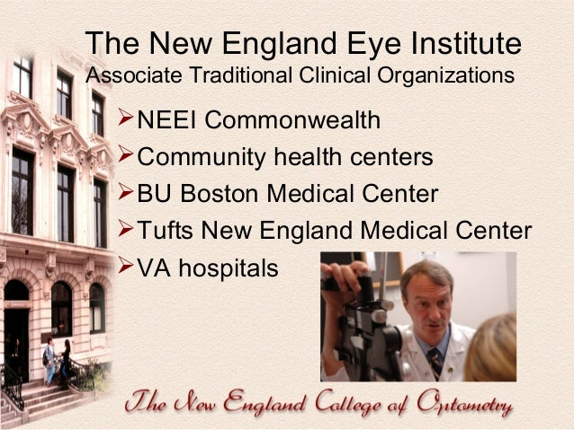 The New England Eye Institute Student Involvement   1st year: Screenings  2nd year: Clerkships  3rd year: Primary Care ...