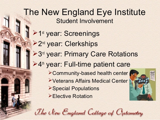 Research  Among the top optometry schools in National Eye Institute research funding.  Only private optometry school com...