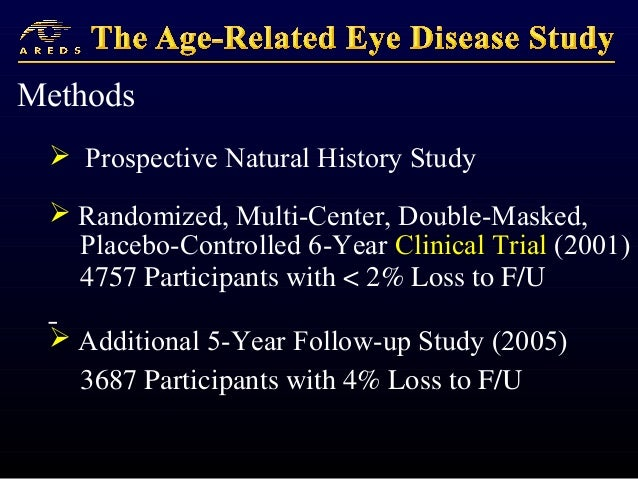 Age-Related Eye Disease Studies by the National Eye Institute