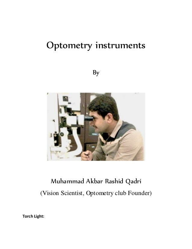 Optometry instruments