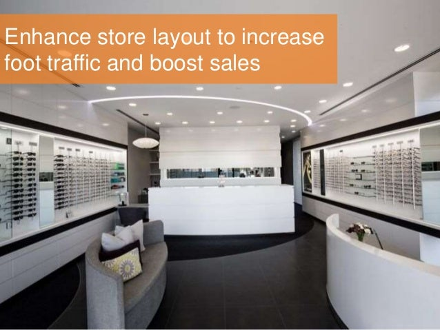 Enhance store layout to increase foot traffic and boost sales