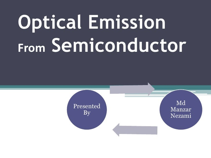 Optical EmissionFrom Semiconductor                  Md     Presented                 Manzar        By                 Nezami