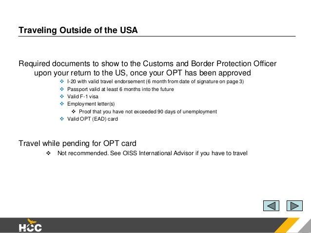 Optional Practical Training (OPT)
