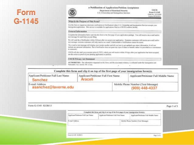 USCIS FORM G-1145 DOWNLOAD