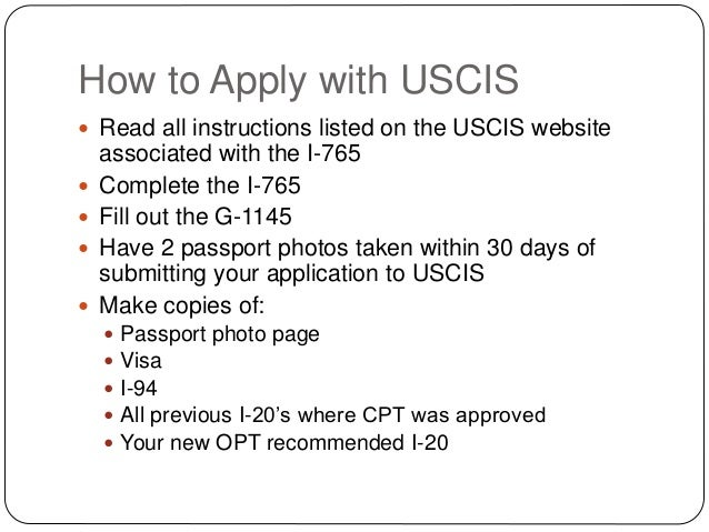 About OPT VISA