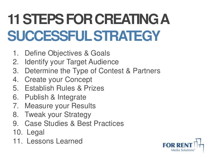 5 establish rules prizesbr 11 steps for creating abr successful strategybr define pronofoot35fo Images