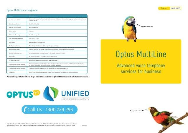 Optus Business Phone, Optus Broadband, Optus Mobile Phone
