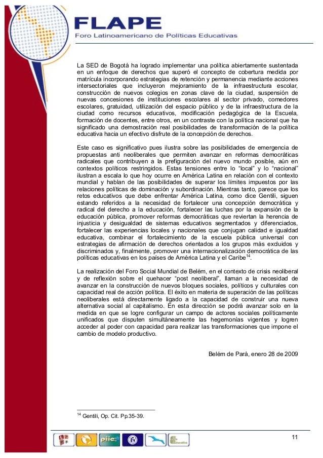 O Pulido Posneoliberalismo Y Educaci N En Am Rica Latina