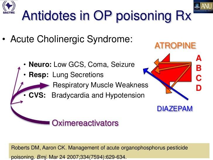 diazepam organophosphate poisoning mechanism