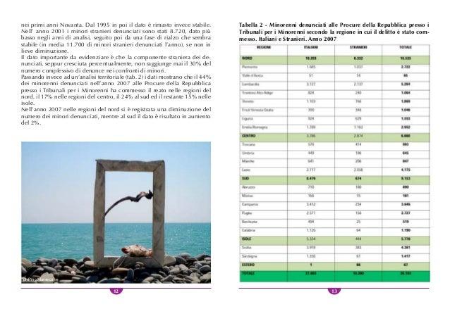 14 15 i reati Dall'analisi delle tipologie di rea- to commessi nell'anno 2007 (tab. 3) si osserva la prevalenza dei re- at...