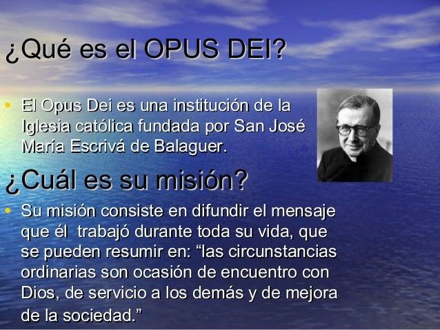 Opus dei power point