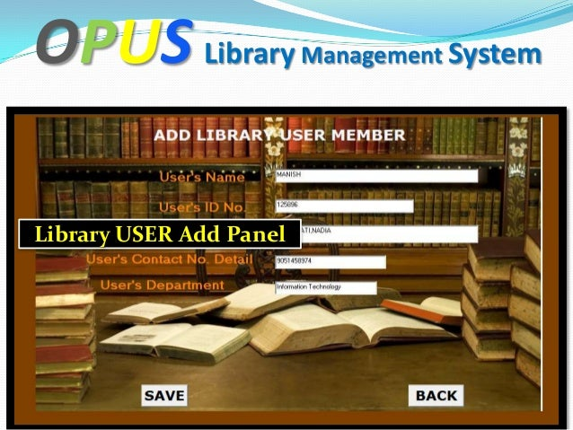 Library management system ppt for Table design of library management system
