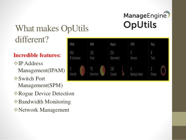 ManageEngine OpUtils Technical Overview