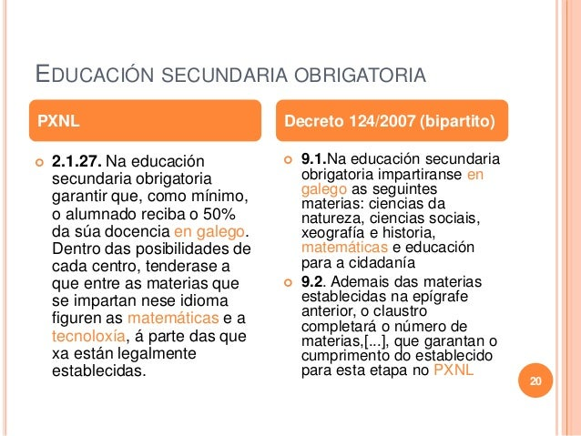 EDUCACIÓN SECUNDARIA OBRIGATORIA  2.1.27. Na educación secundaria obrigatoria garantir que, como mínimo, o alumnado recib...