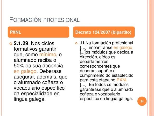 FORMACIÓN PROFESIONAL  2.1.29. Nos ciclos formativos garantir que, como mínimo, o alumnado reciba o 50% da súa docencia e...