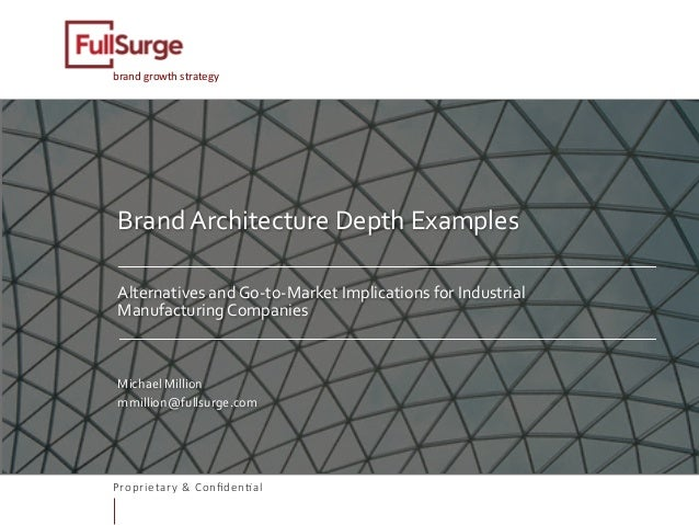 Proprietary & Confiden0al brandgrowthstrategy BrandArchitectureDepthExamples   AlternativesandGo-to-MarketImpl...