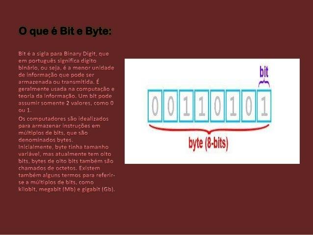 O que é Bit e Byte: