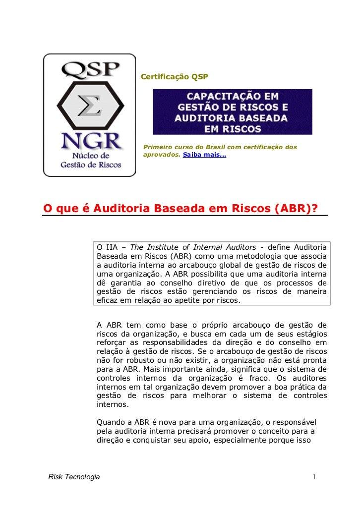 Certificação QSP                          Primeiro curso do Brasil com certificação dos                          aprovados...