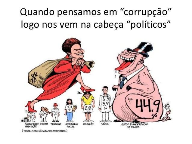 """Quando pensamos em """"corrupção"""" logo nos vem na cabeça """"políticos"""""""