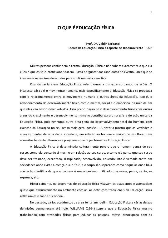 1  OQUEÉEDUCAÇÃOFÍSICA  Prof...