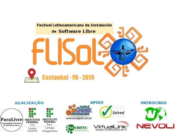Guilherme usando Linux no primeiro FLISoL 2013 CDA