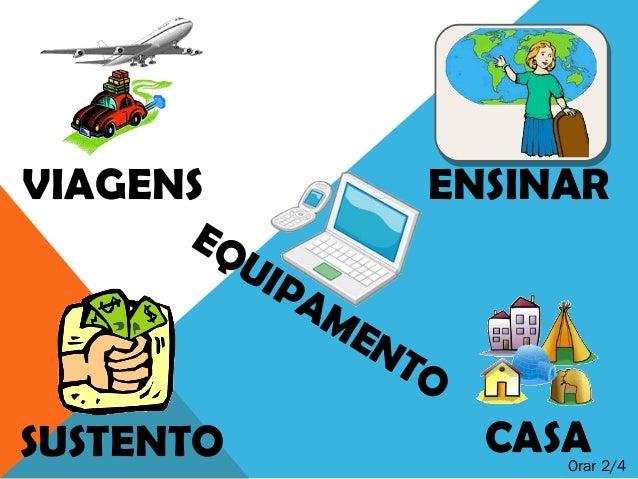 VIAGENS ENSINARSUSTENTO CASAEQUIPAMENTOOrar 2/4