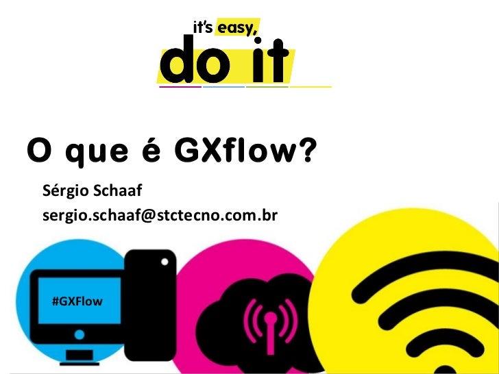 O que é GXflow?Sérgio Schaafsergio.schaaf@stctecno.com.br #GXFlow