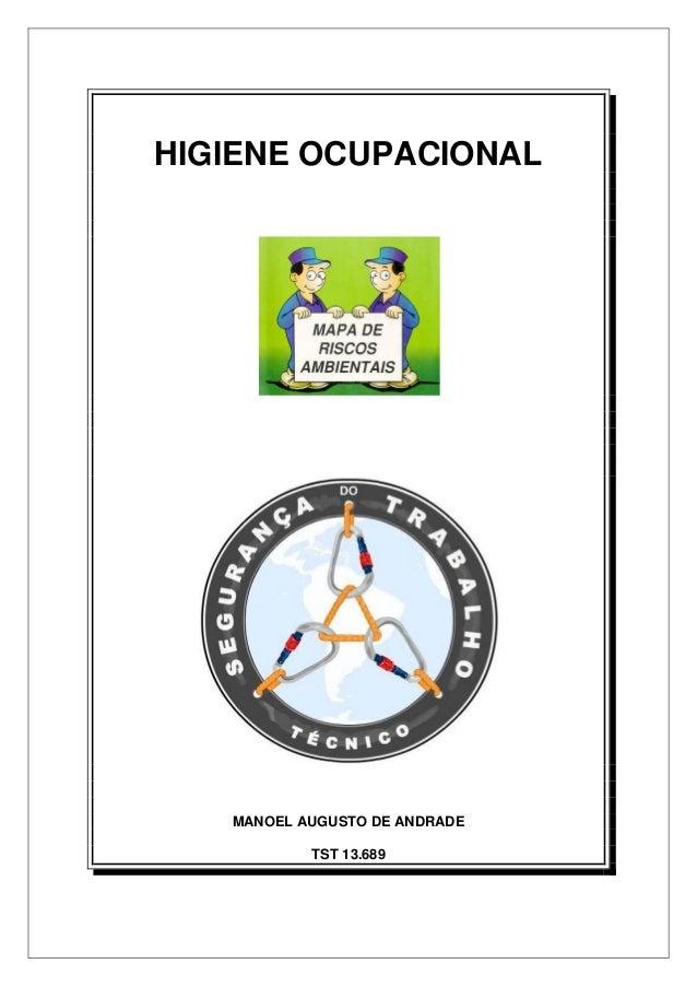 HIGIENE OCUPACIONAL MANOEL AUGUSTO DE ANDRADE TST 13.689
