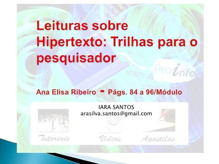 IARA SANTOS [email_address]