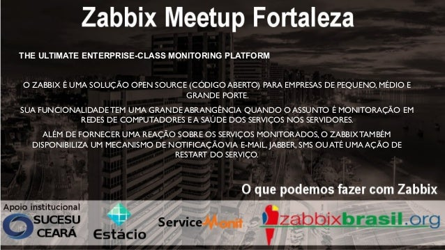 O que podemos fazer com o Zabbix  Slide 2