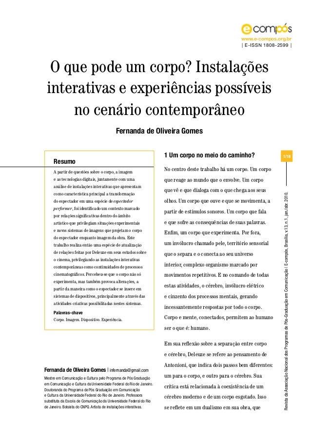 RevistadaAssociaçãoNacionaldosProgramasdePós-GraduaçãoemComunicação|E-compós,Brasília,v.13,n.1,jan./abr.2010. www.e-compos...