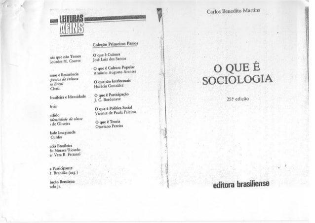 O que é sociologia  - Carlos B. Martins