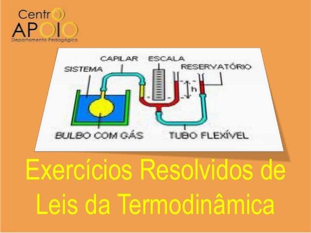 Exercícios Resolvidos de Leis da Termodinâmica