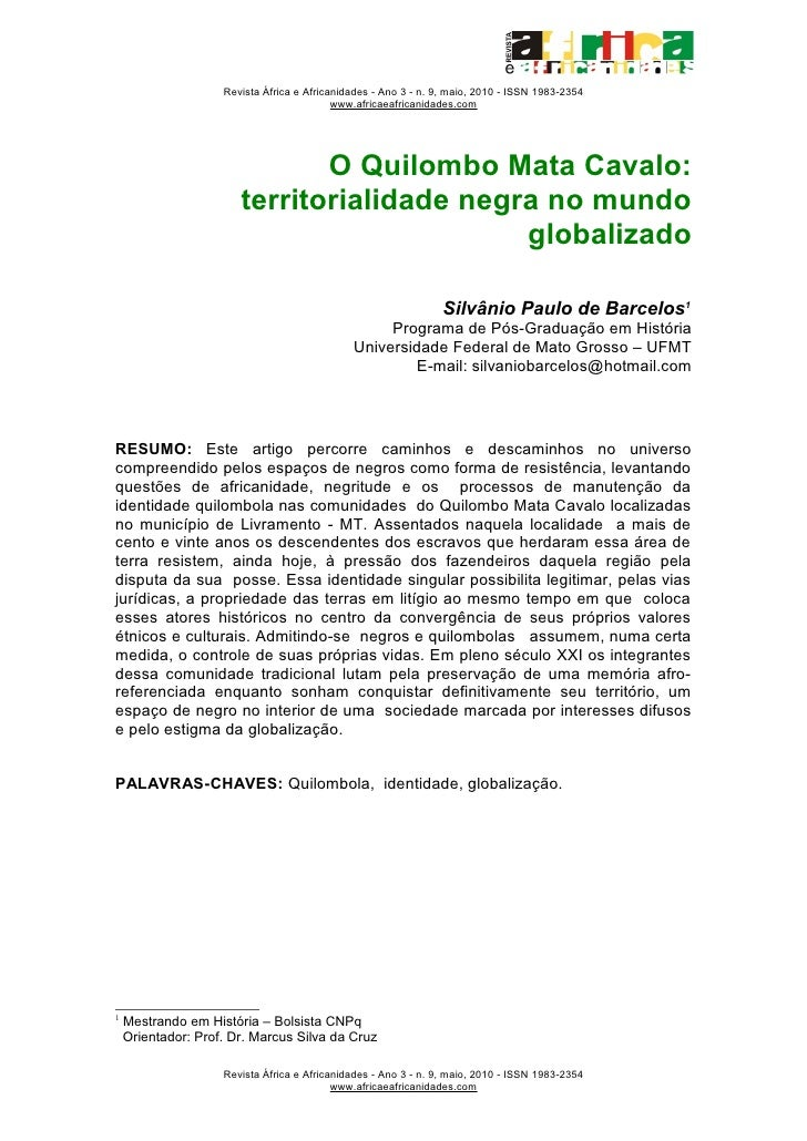 Revista África e Africanidades - Ano 3 - n. 9, maio, 2010 - ISSN 1983-2354                                            www....