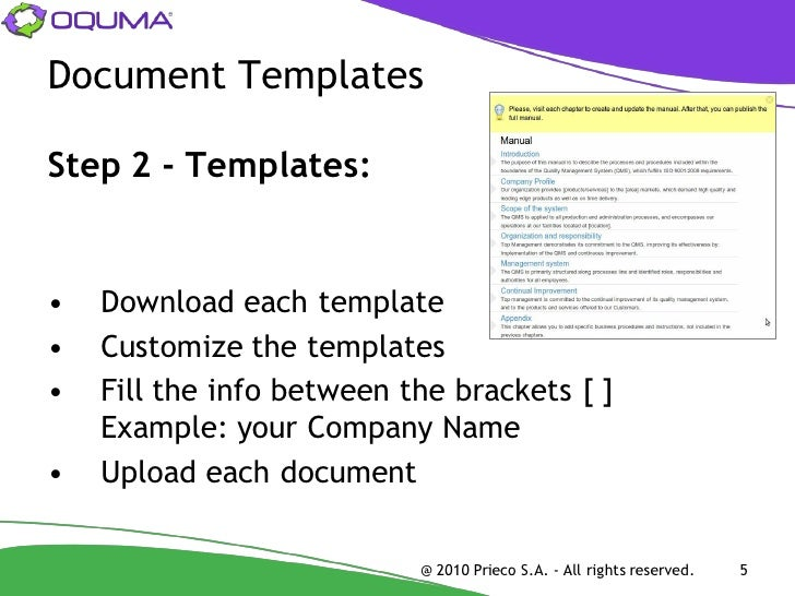 4; 5. Document Templates ...