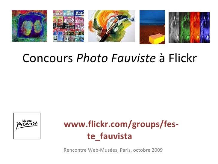Concours  Photo Fauviste  à Flickr   www.flickr.com/groups/fes-te_fauvista Rencontre Web-Musées, Paris, octobre 2009
