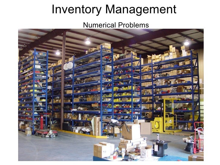 Inventory Management Numerical Problems