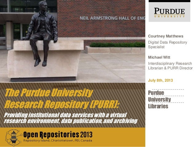 The Purdue University Research Repository (PURR): Providing institutional data services with a virtual research environmen...