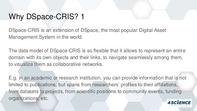 DSpace-CRIS 7: What is Coming? OR2020 Slide 3